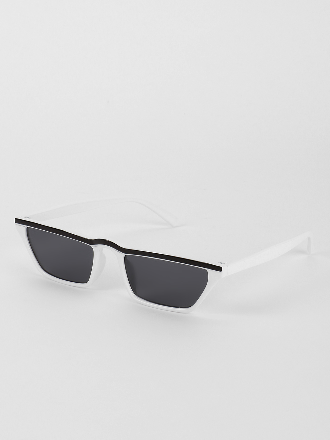 Sneak-a-Peek White Sleek Frame Classic Sunglasses 1