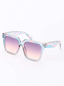 Sneak-a-Peek Oversized Square Retro Sunglasses