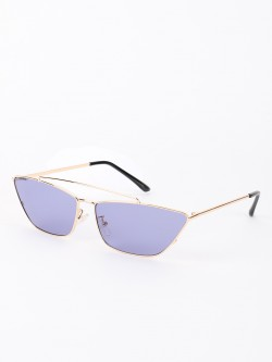Sneak-a-Peek Tinted Lens Retro Cateye Sunglasses