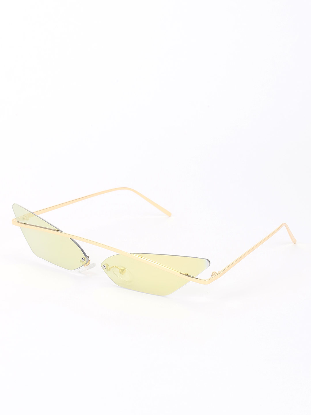 Sneak-a-Peek Gold Coloured Retro Cateye Sunglasses 1