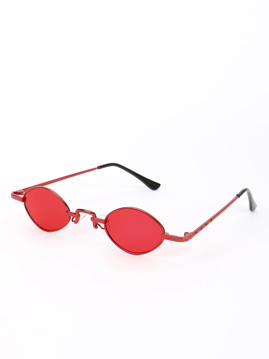 Sneak-a-Peek Red Micro Coloured Lens Retro Sunglasses 1