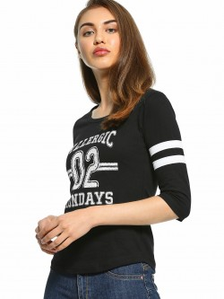 The Dry State Slogan Print Long Sleeve T-Shirt