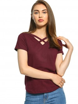 The Dry State Criss-Cross V-Neck T-Shirt