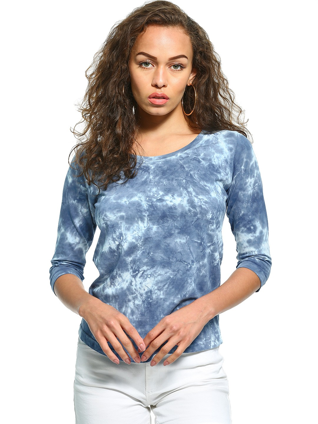 The Dry State Blue Acid Wash Long Sleeve T-Shirt 1