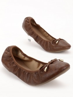 New Look Crockskin Bow Detail Ballerinas