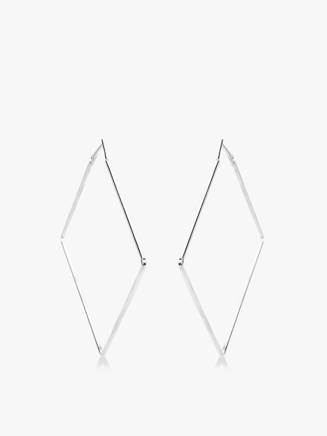Zero Kaata Silver Square Shape Oversized Hoops 1
