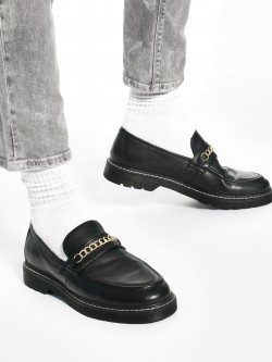 KOOVS Chain Trim Chunky Loafers