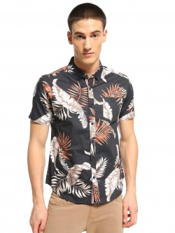 Soulstar All Over Leaf Print Shirt