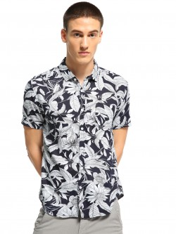 Soulstar Tropical Print Short Sleeve Shirt
