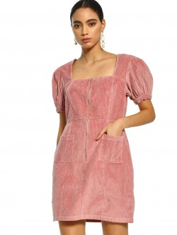KOOVS Corduroy Utility Shift Dress