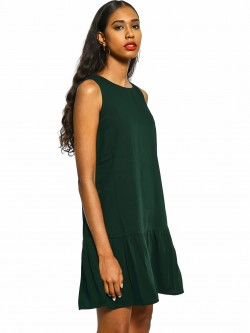 Miaminx Frill Hem Sleeveless Shift Dress