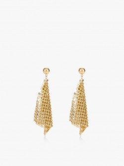 Blueberry Gold Sheet Drop Earrings