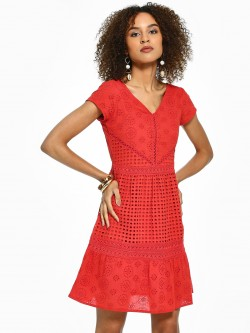 Rena Love All Over Broderie Shift Dress