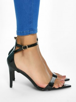 KOOVS Patent Finish Heeled Sandals