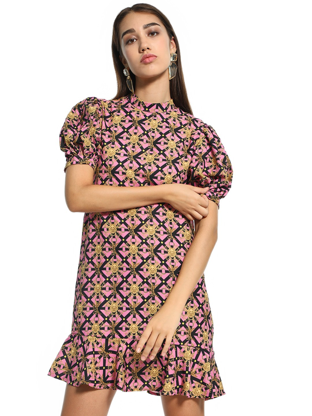KOOVS Multi Baroque Print Shift Dress 1