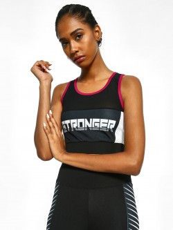 K ACTIVE KOOVS Stronger Mesh Panel Crop Top