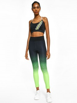 K ACTIVE KOOVS Two-Tone Triangle Print Leggings