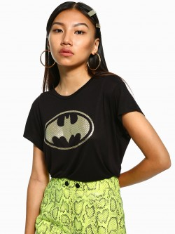 Free Authority Batman Logo Foil Print T-Shirt