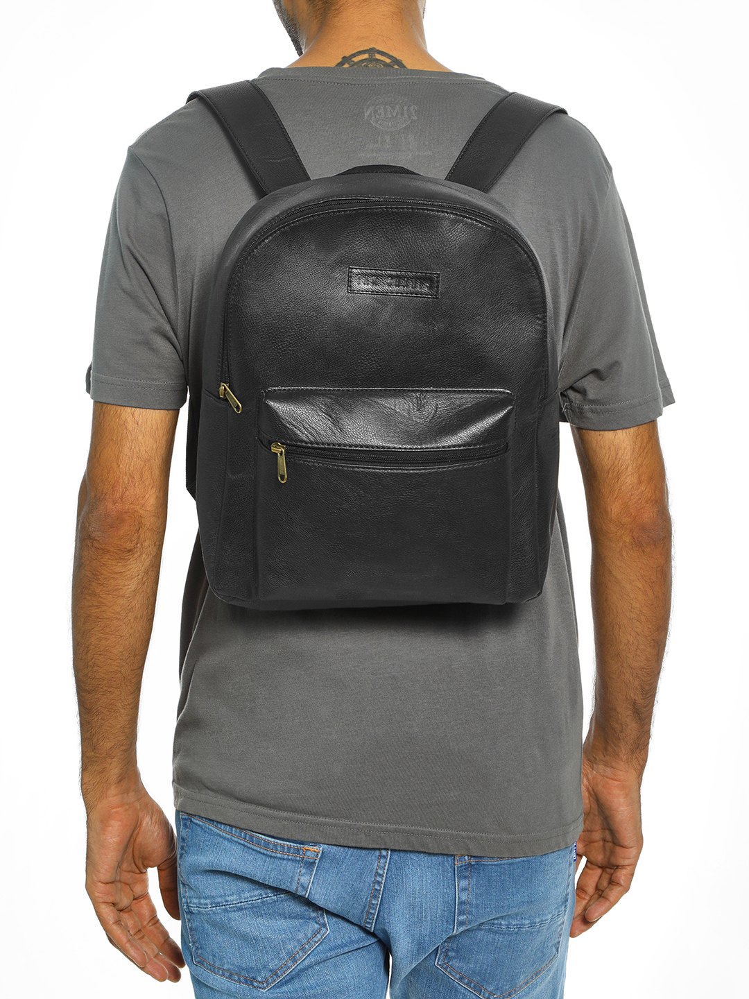 Tan Shades Black Basic Backpack 1