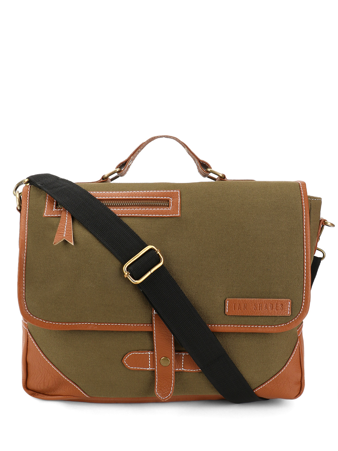 Tan Shades PU Panel Messenger ...