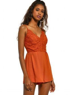 Iris Crochet Lace Strappy Playsuit
