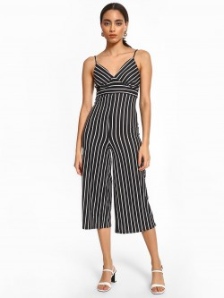 Iris Multi Stripe Sleeveless Cropped Jumpsuit