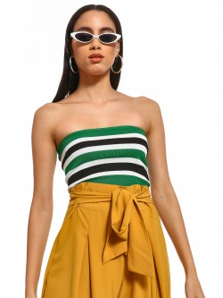 Iris Colour Block Stripe Bandeau Top