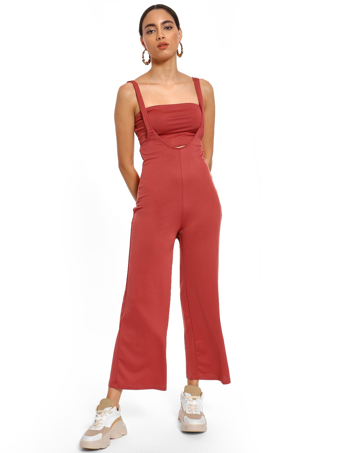 Iris Rust Tube Top Insert Jumpsuit 1