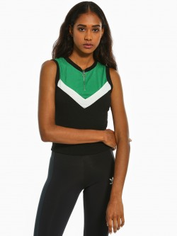 Iris Colour Block Chevron Ribbed T-Shirt