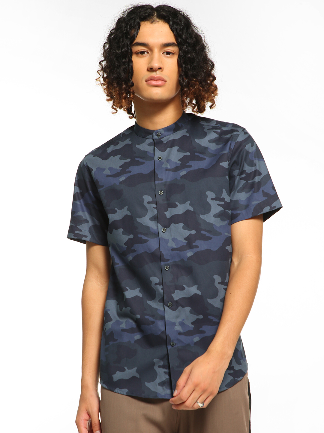 Green Hill Multi Camo Print Short Sleeve Shirt 1