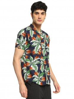 AMON Palm Leaf Printed Shirt