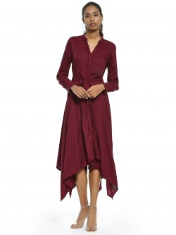 AND Asymmetric Hem Midi Dress