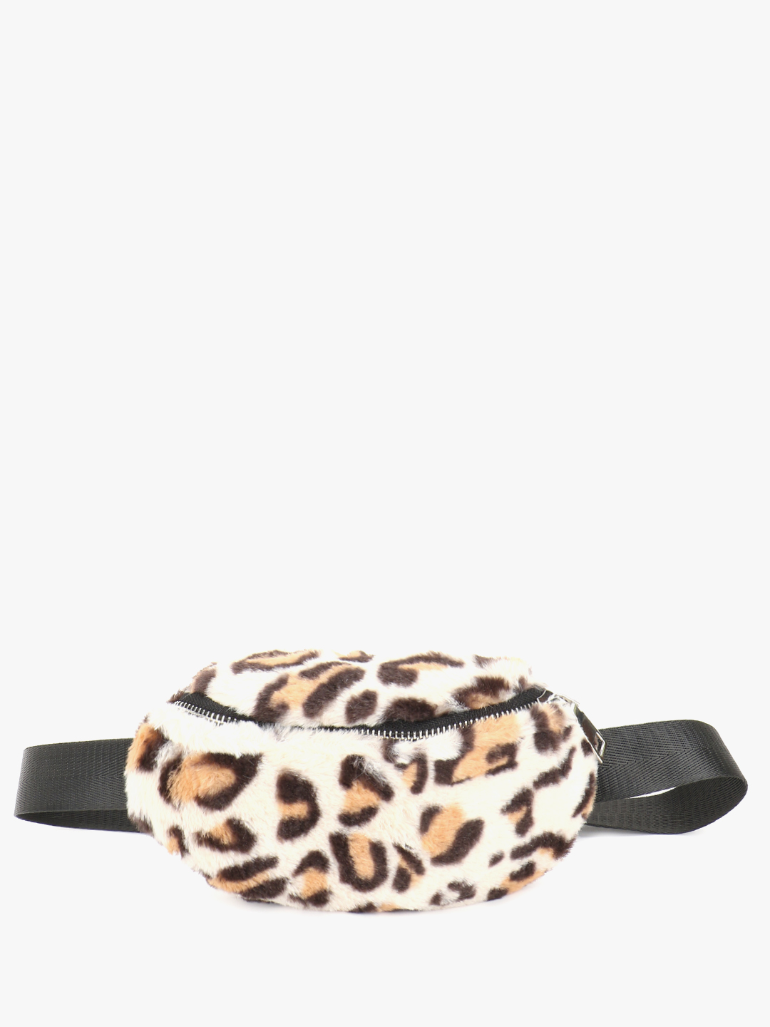 Origami Lily Multi Furry Leopard Print Bum Bag 1