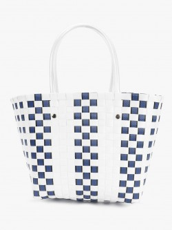 Origami Lily Basket Weave Tote Bag