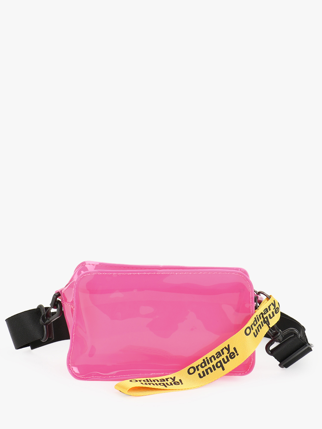 Origami Lily Pink Text Detail Perspex Sling Bag 1