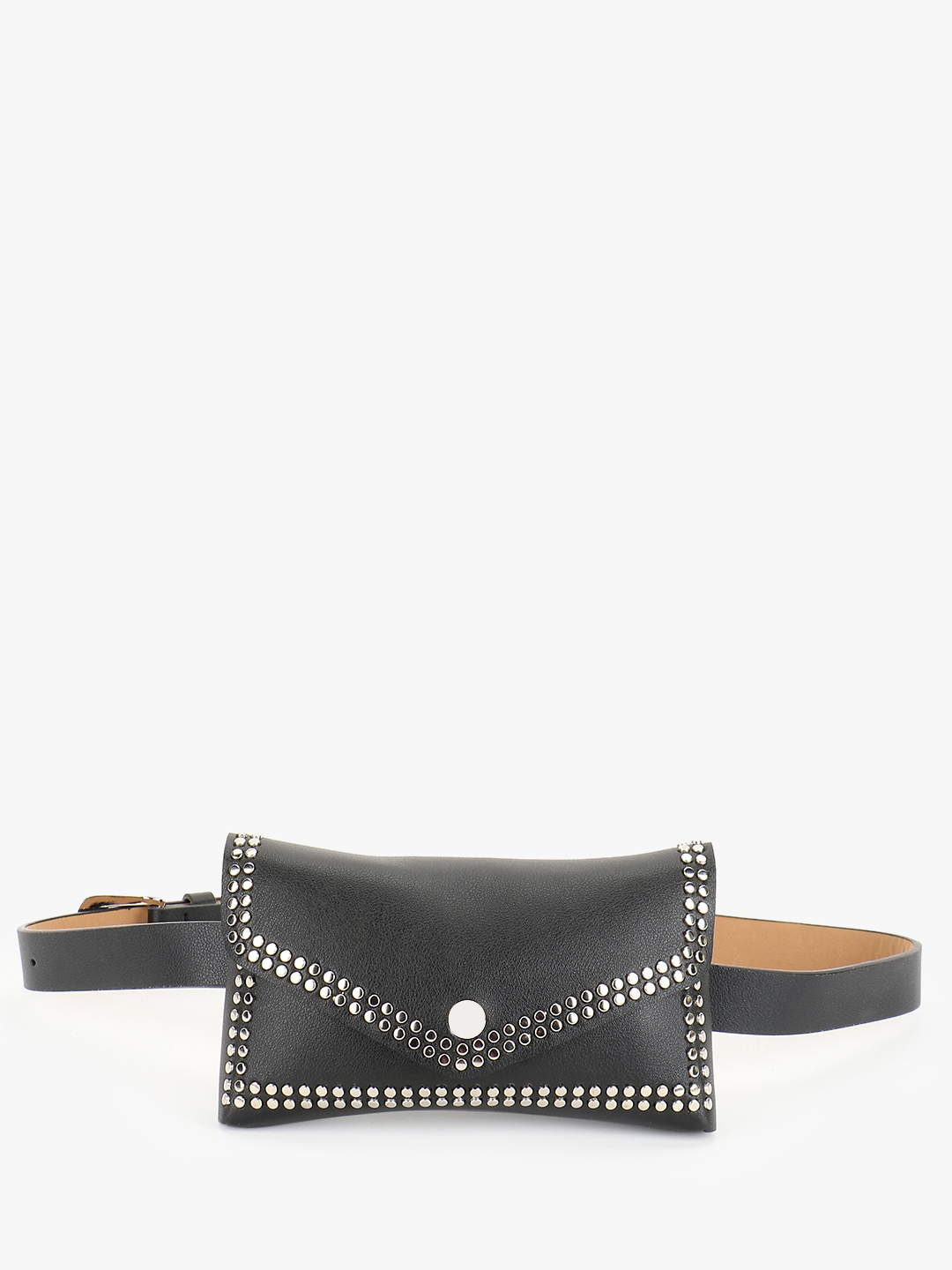 Origami Lily Black Stud Embellished Bum Bag 1