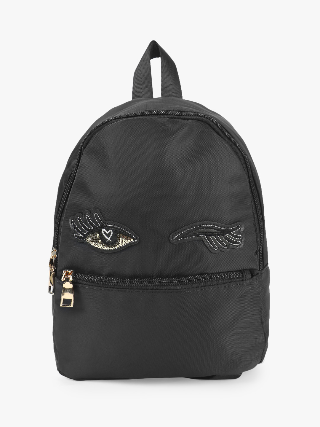 Origami Lily Black Sequin Wink Eye Patch Backpack 1