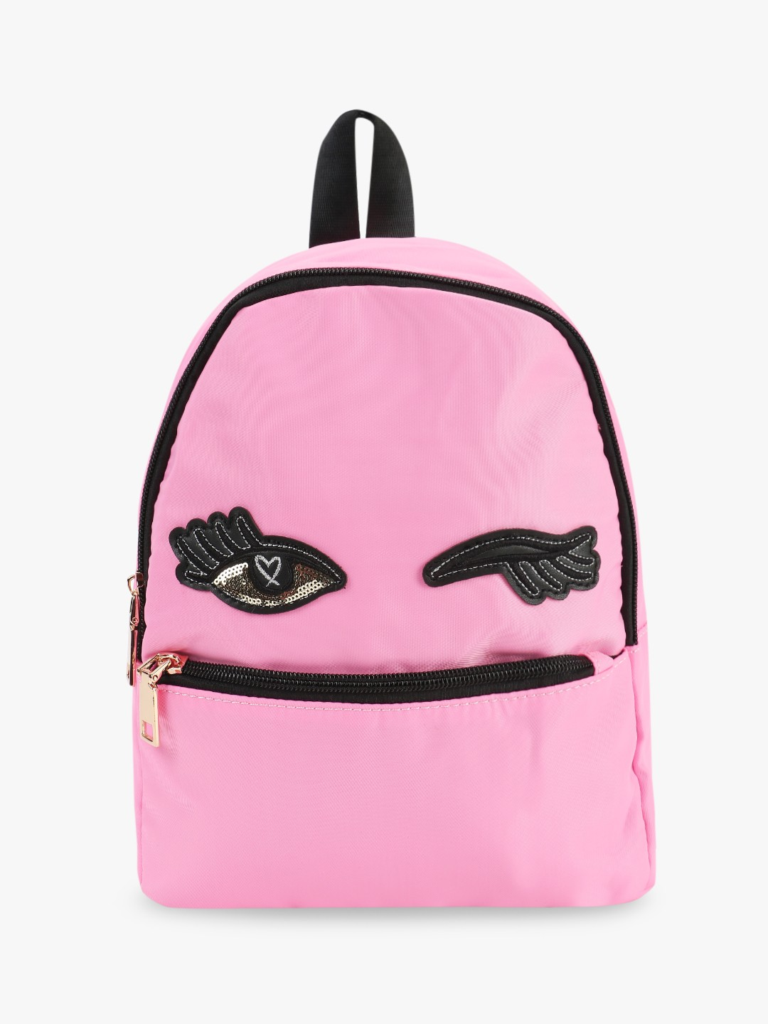 Origami Lily Pink Sequin Wink Eye Patch Backpack 1