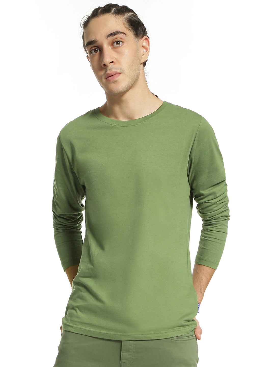 Blue Saint Green Basic Long Sleeve T-Shirt 1