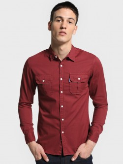 Blue Saint Twin Pocket Slim Shirt