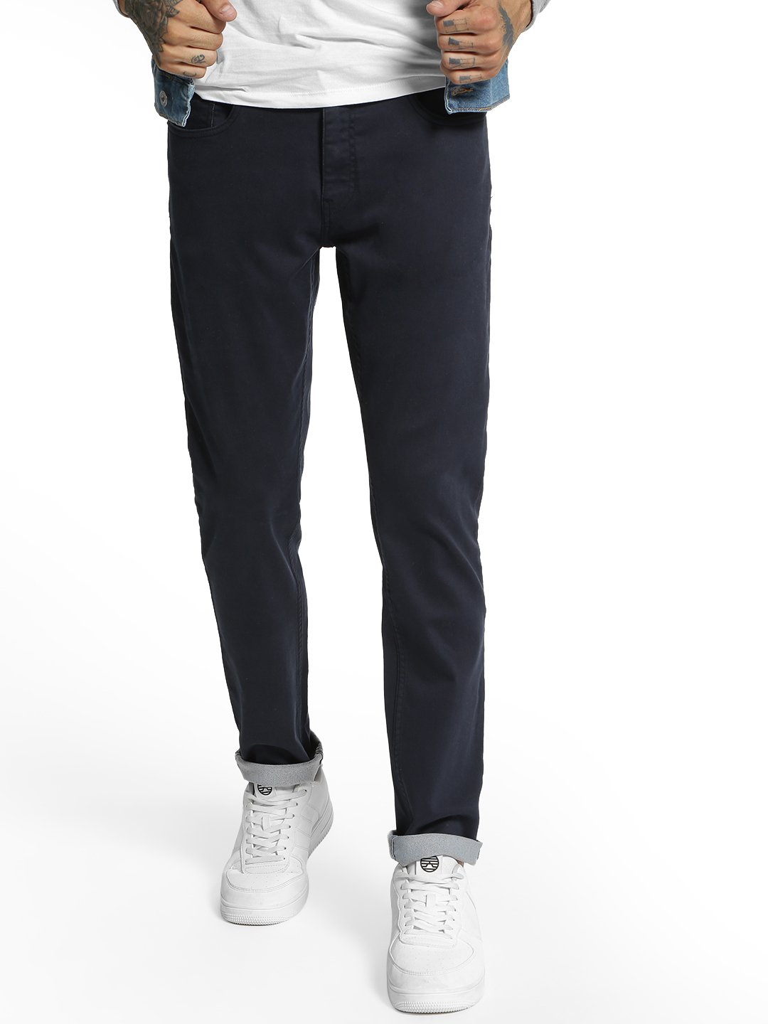 Blue Saint Blue Basic Knitted Slim Trousers 1