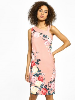 Cover Story Floral Print Bodycon Dress