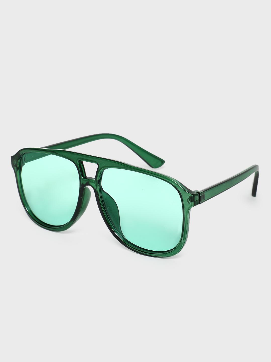 Pataaka Green Coloured Tinted Lens Pilot Sunglasses 1