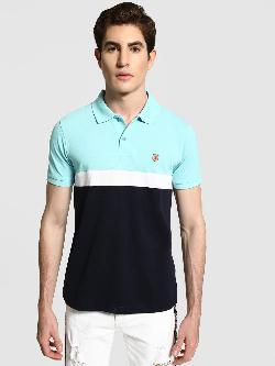 Blotch Colour Block Polo Shirt