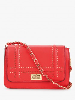 Cover Story Studded Flap Sling Bag