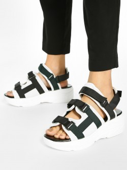 KOOVS Buckle Strap Chunky Sole Sandals