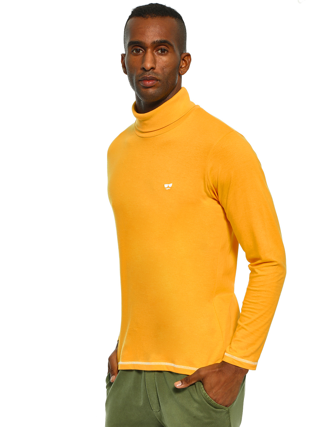 Garcon Yellow Turtle Neck Long Sleeve T-Shirt 1