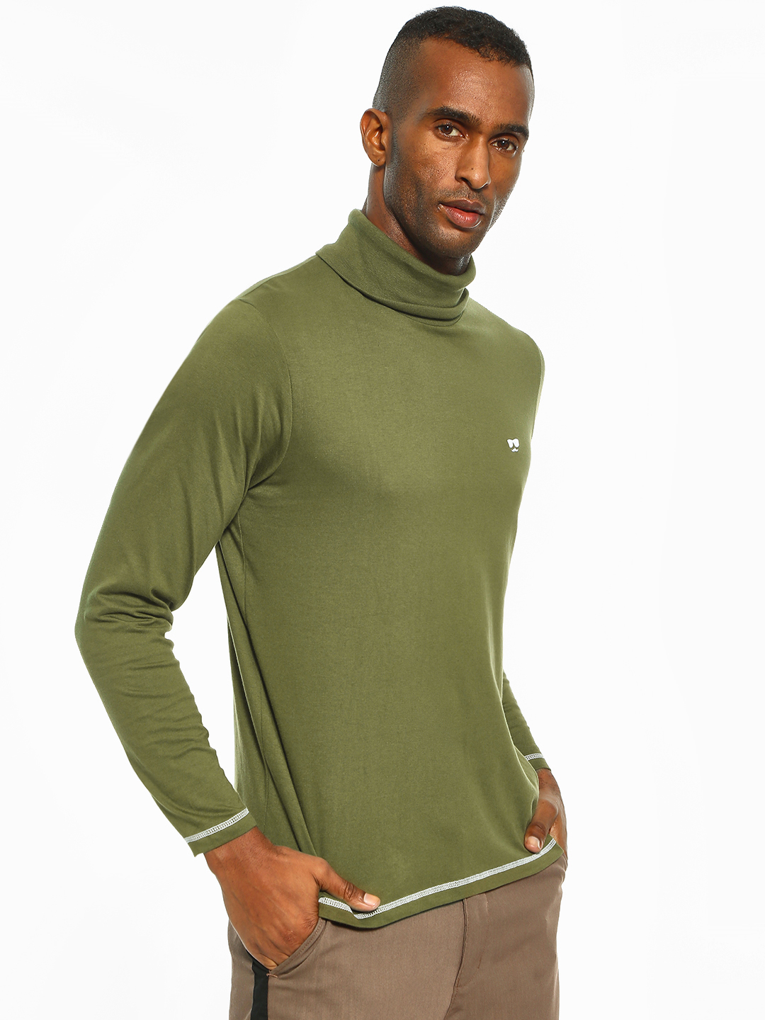 Garcon Green Turtle Neck Long Sleeve T-Shirt 1