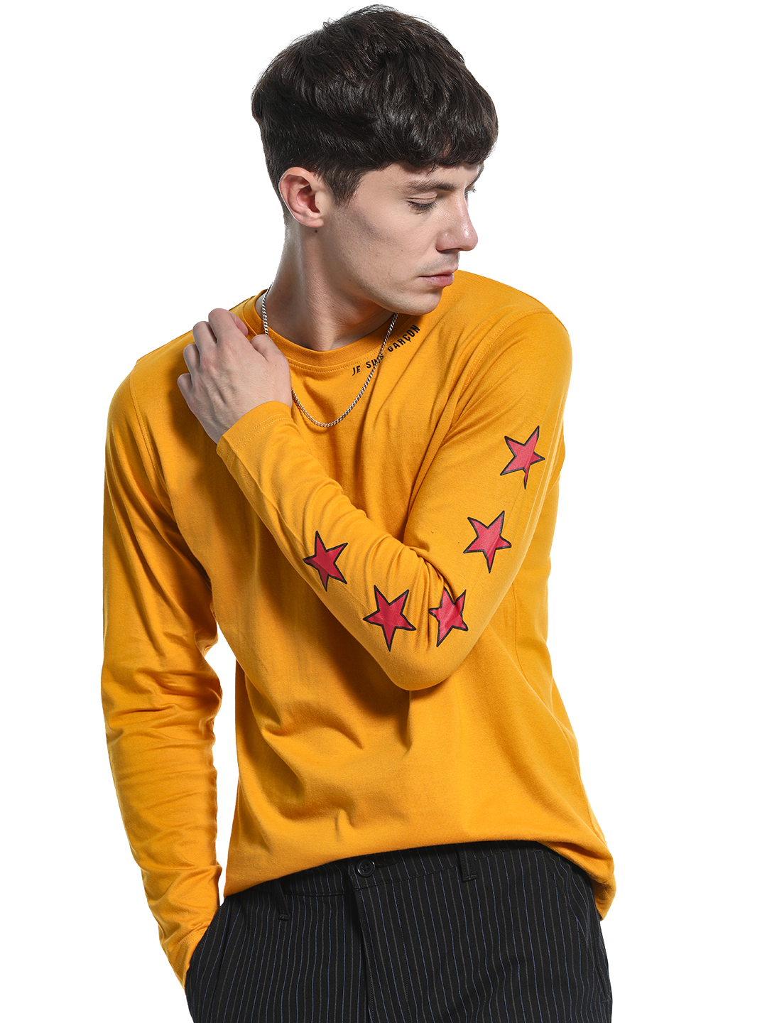 Garcon Yellow Placement Star Print T-Shirt 1