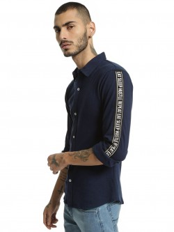 Garcon Pique Slogan Print Side Tape Shirt